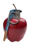 Apple Grenade. Isolated over a white background Royalty Free Stock Image