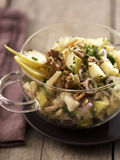 Apple,gruyere and walnut salad Royalty Free Stock Image