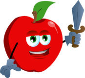Apple guard with sword Stock Photo