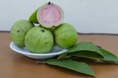 Apple Guava Fruits And Leaves stock images