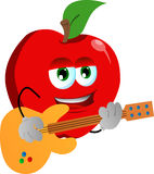 Apple guitar player Stock Photo