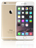Apple guld- iPhone 6 Arkivbilder