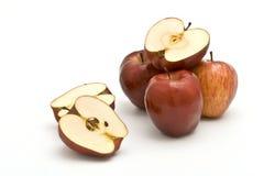 Apple-Hälften Stockfoto