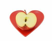 Apple halb Stockfoto