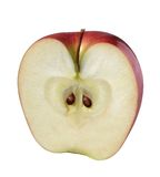 Apple (Half). Half of Apple (with outline path stock images