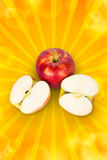 Apple in half Royalty Free Stock Photo
