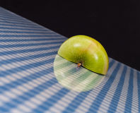 Apple Half With Reflection Royalty Free Stock Photography