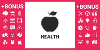 Apple - halftone logo Fotografia Stock