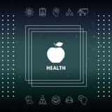 Apple - halftone logo Obrazy Stock