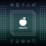 Apple - halftone logo ilustracji