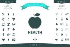 Apple - halftone logo Obraz Stock