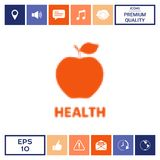 Apple - halftone logo Obraz Royalty Free