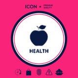 Apple - halftone logo royalty ilustracja