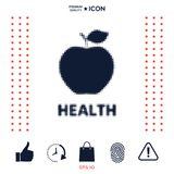 Apple - halftone logo Zdjęcia Stock