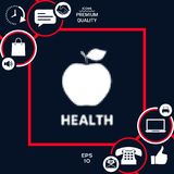 Apple - halftone logo Fotografia Royalty Free
