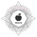 Apple - halftone logo Zdjęcie Royalty Free