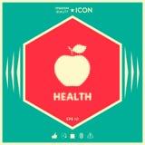 Apple - halftone logo Zdjęcia Royalty Free