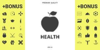 Apple - halftone logo ilustracja wektor