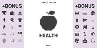 Apple - halftone logo - graficzni elementy dla twój projekta royalty ilustracja