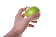 Apple in hand 2 Royalty Free Stock Image