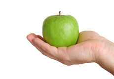 Apple in hand Stock Photography