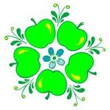 Apple. Hand drawn, , illustration in Ukrainian folk style royalty free illustration