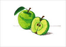 Apple hand painted Royalty Free Stock Photos