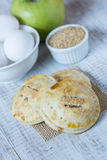 Apple Hand Pies With Raw Sugar and Eggs Stock Photography