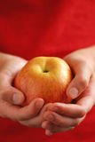 Apple in hands Royalty Free Stock Images