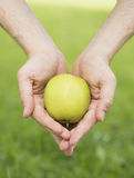 Apple in the hands Royalty Free Stock Photos