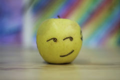 Apple happy smiling face Royalty Free Stock Images