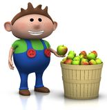 Apple harvest - boy Royalty Free Stock Photos