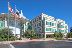 Apple Hauptquartier Cupertino Stockbilder