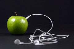 Apple Headphones Royalty Free Stock Photography