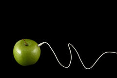 Apple Headphones Royalty Free Stock Photo