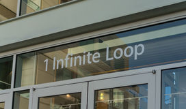 Apple headquarters at Infinite loop in Cupertino. Stock Photos