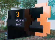 Apple headquarters at Infinite loop in Cupertino. Royalty Free Stock Photography