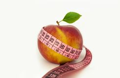 Apple. Healthy food Diet Measurement Green Life. Apple Healthy food Diet Measurement  photography Green life Forever royalty free stock image