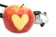 Apple heart Stock Photo
