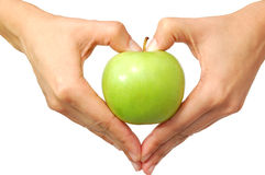 Apple heart Royalty Free Stock Photography