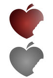 Apple heart. Vector heart image,apple style Stock Images
