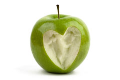 Apple with a heart Royalty Free Stock Image