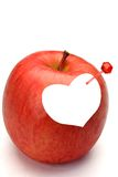 Apple and heart Royalty Free Stock Image