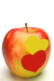 Apple and heart Stock Photo