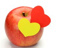 Apple and heart Stock Photos