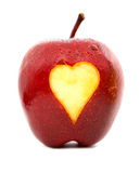 Apple with a heart Stock Photo