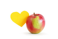 Apple And Heart Royalty Free Stock Photos