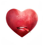 Apple Heart With Chili Pepper Royalty Free Stock Image