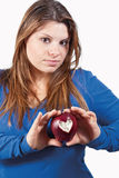 Apple and heart Stock Images
