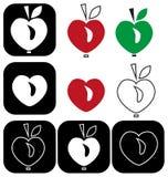 Apple heart Royalty Free Stock Photo